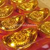 縁起物/風水/開運/新年/中国の黄金のインゴット小×18個セット